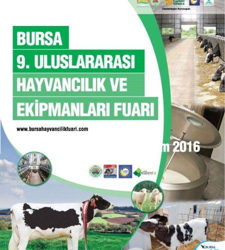 Bursa 9. Uluslararası Hayvancılık ve Ekipmanları Fuarı