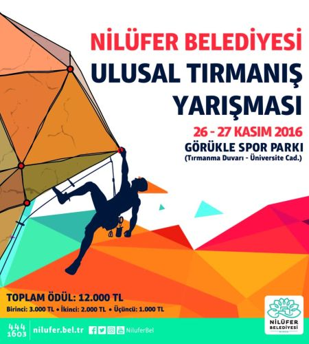 Nilüfer Belediyesi Ulusal Tırmanış Yarışması